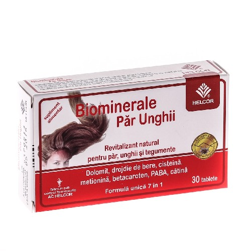 Biominerale Par si Unghii 30tablete Helcor