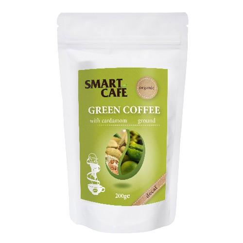 Cafea Verde Macinata Decofeinizata cu Cardamom Bio 200gr