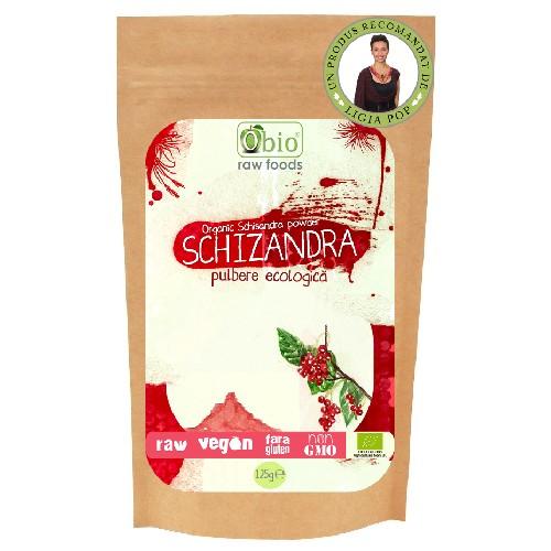 Schizandra Pulbere Raw Bio 125gr Obio