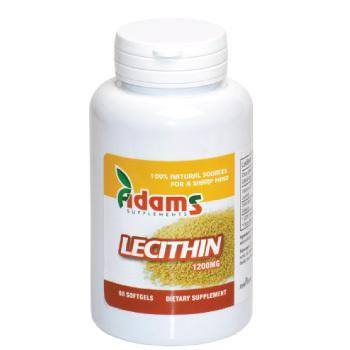 Lecithin 1200mg 60 capsule Adams