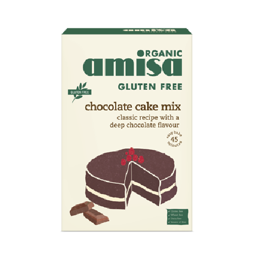 Mix Pentru Tort Cu Ciocolata Fara Gluten Bio 400gr Amisa