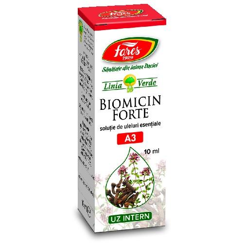 Biomicin Forte (Solutie de Uleiuri Esentiale) 10ml Fares