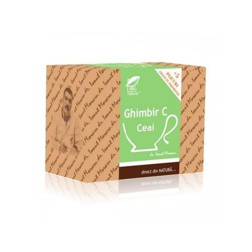 Ceai Ghimbir C 20plicuri + 5plicuri GRATIS Pro Natura