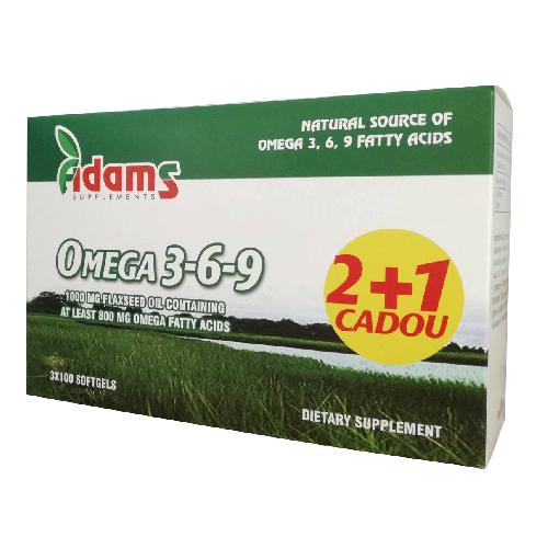 Pachet Omega 3-6-9 100cps 2+1 GRATIS