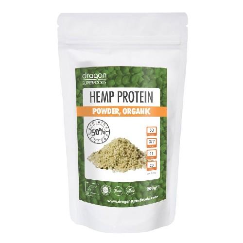 Pudra Proteica din Canepa Raw Bio 200gr Dragon Superfoods