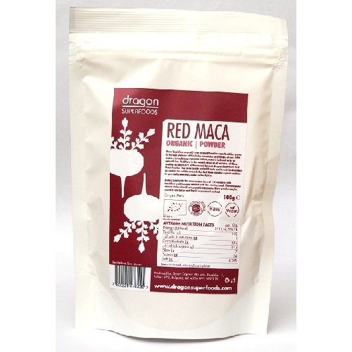 Maca Rosie Pudra Raw Bio 100gr Dragon Superfoods