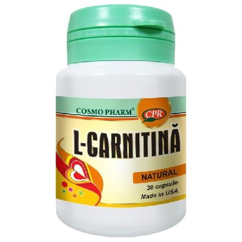 L Carnitina cu Omega 3 30cps CosmoPharm
