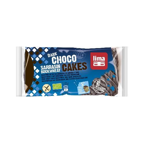 Rondele din Hrisca Expandata cu Ciocolata Neagra Bio 90gr Lima