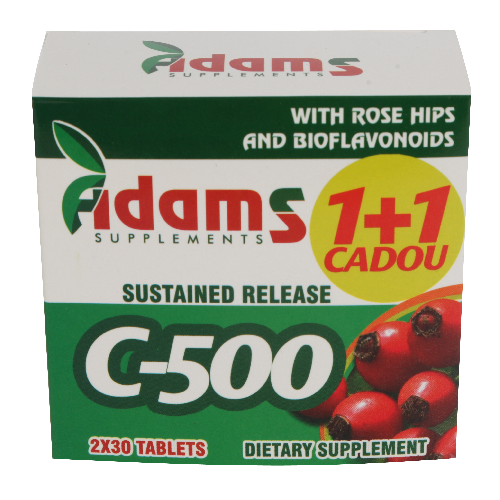 Vitamina C-500 cu Macese 30tab 1+1 GRATIS