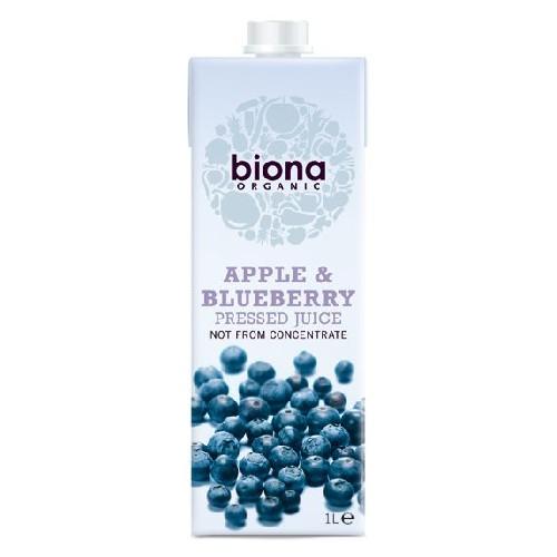 Suc de Mere Nefiltrat cu Afine Bio 1l Biona