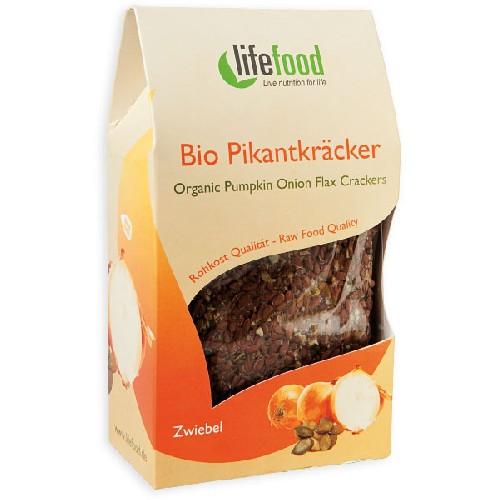 Crackers Cu Dovleac Si Ceapa Raw Bio 90gr Lifefood