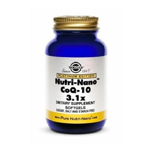 Nutri-Nano CoQ-10 3.1x Softgels 50cps Solgar