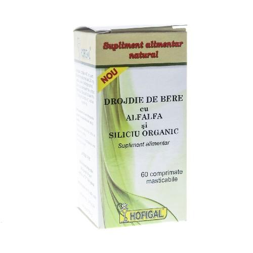 Drojdie Bere cu Alfaalfa & Siliciu Organic 60cpr Hofigal