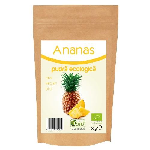 Ananas Pudra Bio 50gr Obio