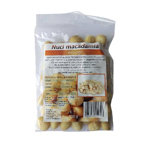 Nuci de Macadamia Intregi 125gr Deco Italia