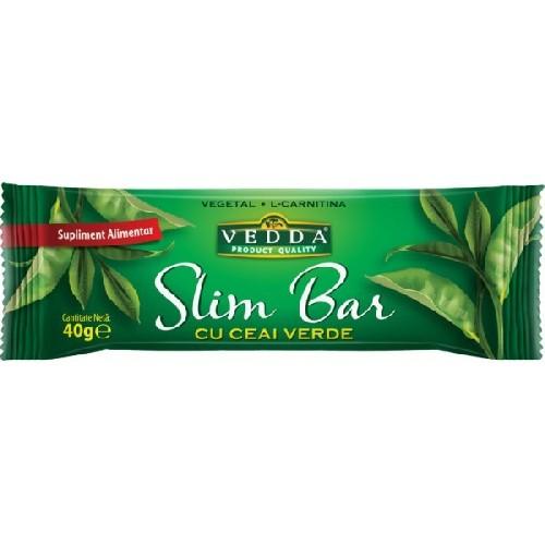 Baton Slim Bar cu Ceai Verde 40gr Vedda