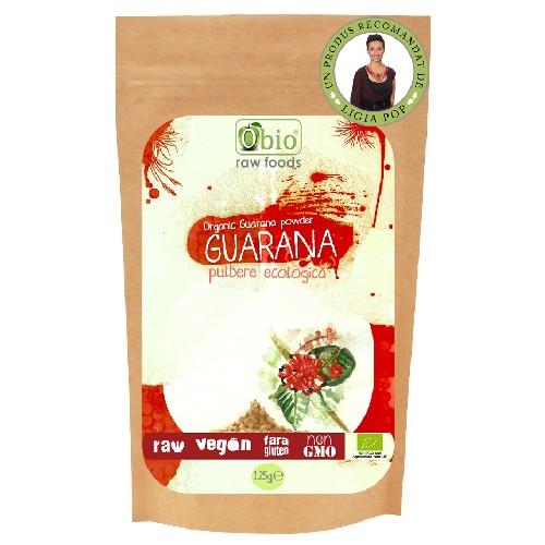 Pulbere de Guarana Raw Bio 125gr Obio