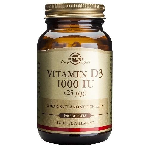 Vitamin D3 1000UI 100cps Solgar