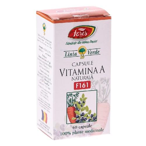 Vitamina A naturala 60cps Fares