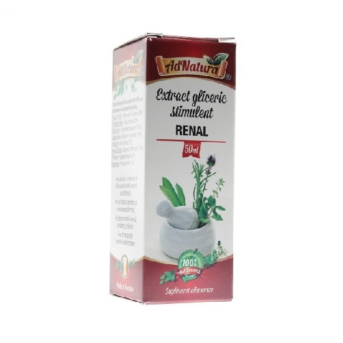 Extract Gliceric Stimulent Renal 50ml AdNatura