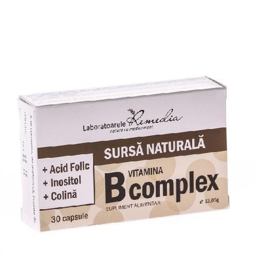 Vitamina B Complex 30cps Remedia