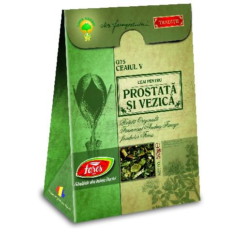 Ceaiul V pentru Prostata si Vezica 50gr Fares