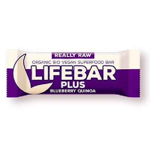 Lifebar Plus Baton cu Afine si Quinoa Raw Bio 47gr