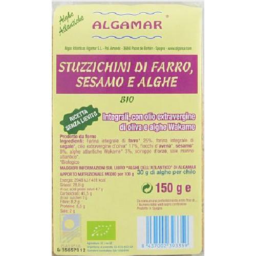 Aperitiv (biscuiti) din Spelta cu Alge si Susan Bio 150g Algamar