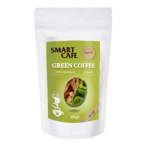Cafea Verde Macinata Decofeinizata cu Scortisoara Bio 200gr