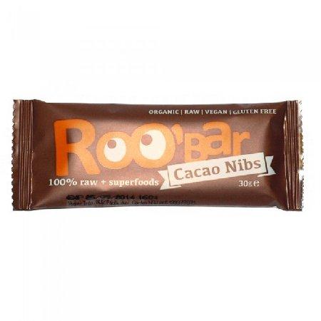 Baton Roobar cu Cacao si Migdale Raw 30gr Biohol