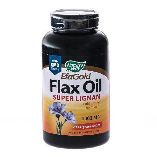 Flax Oil Super Lignan 1300mg 100cps Secom