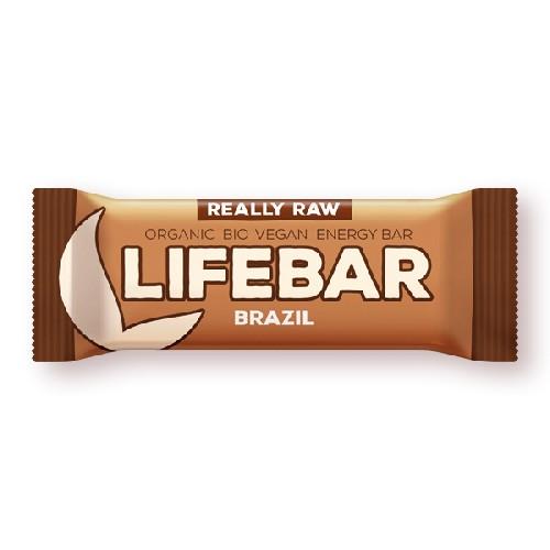 Lifebar Baton Cu Nuci Braziliene Raw Bio 47gr Lifefood