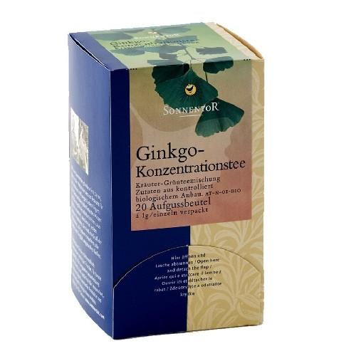 Ceai Pentru Concentrare- Ginkgo Eco 20plicuri Sonnentor