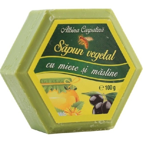 Sapun cu Miere & Ulei de Masline 100gr Albina Carpatina