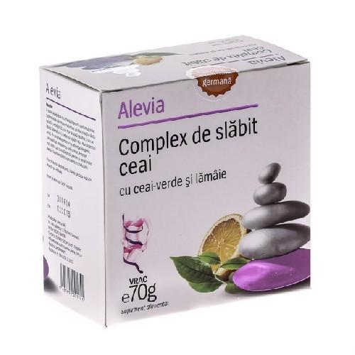 Ceai Complex de Slabit cu Ceai Verde+Lamaie 70gr Alevia